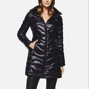 Andrew Marc Premium Down Long Black Jacket